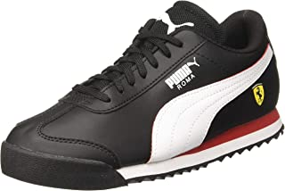 Puma Unisex Kid's Sf Roma Jr Black White-Rosso C Sneakers