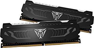 Patriot Memory PVLW416G360C6K 16 GB (2x8 GB) Viper LED DDR4 3600 MHz DRAM Kit - White