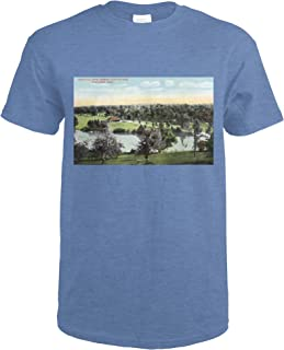 Worcester, Massachusetts - View of Green Hill Park 18357 (Heather Royal T-Shirt X-Large)