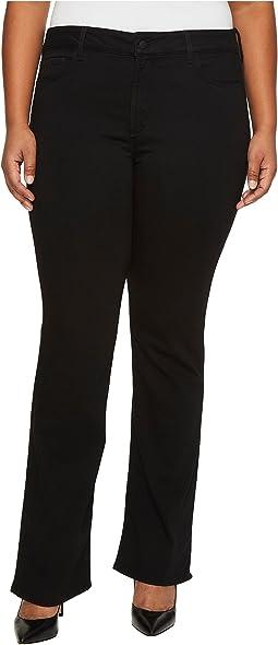 NYDJ Plus Size - Plus Size Barbara Bootcut Jeans in Luxury Touch Denim in Black