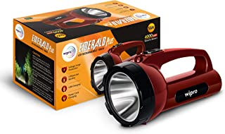 wipro Emerald Plus Rechargeable Emergency Light (Pack of 1, Red)