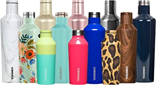 Corkcicle Canteen - Water Bottle & Thermos - Triple Insulated Stainless Steel, 16 oz, Powder Blue