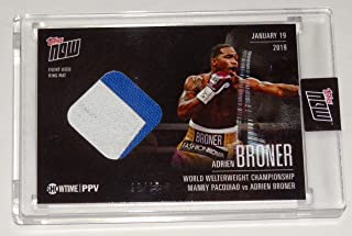 ADRIEN BRONER vs MANNY PACQUIAO MAT RELIC TOPPS NOW SHOWTIME BOXING CARD #PVB-3A
