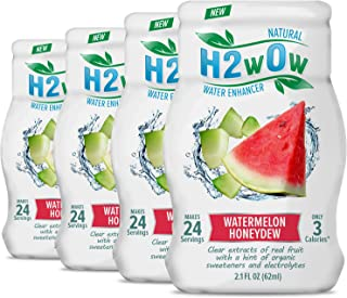 H2wOw Water Enhancer Drops – ORGANIC & Natural Extracts of Real Fruit - a Hint of Organic Stevia - Makes 768 oz of Delicio...