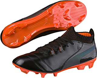 One Lux FG Soccer Cleats, 10.0 D(M) US, Black/Shocking Orange