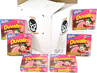 Mexican Candy Duvalin Ricolino Bi Sabor Avellana Y Fresa Wholesale Hazelnut and Strawberry Flavored Creme Cream Pudding Dulces Mexicanos … (6 Boxes of Duvalin (108 Pieces))