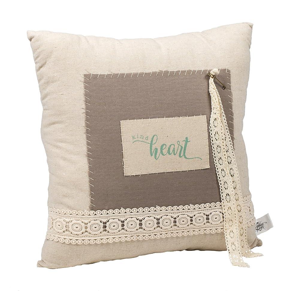 回答チャンバー気づかないAquaブルーKind Heart 14?x 14正方形キャンバスとレース装飾スロー枕