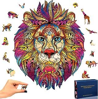 SPECOOL Puzzle en Bois Mysterious Lion 3D Puzzle Coloré Unique Forme Animale Jigsaw Pieces Puzzle en Bois Meilleur Cadeau ...
