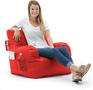 Big Joe 645613 Dorm Bean Bag Chair, Flaming Red