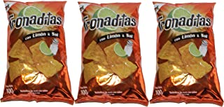 Tronaditas Con Limon Y Sal Chips 100g From Costa Rica (Pack of 3)