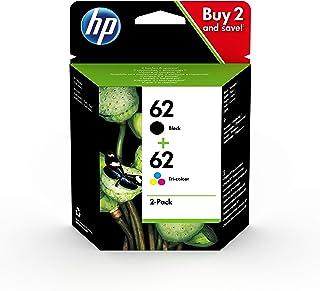 HP 62 N9J71AE, Negro y Tricolor, Cartuchos de Tinta Originales, Pack de 2, compatible con impresoras de inyección de tinta...