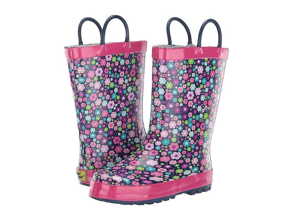 Western Chief Kids Blossom Blast Rain Boot (Toddler/Little Kid) (Navy) Girls Shoes