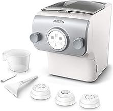 Philips HR2375/05 Machine à pâtes fraîche, 4 variétés de pâtes, avec accessoire de nettoyage, verre doseur et livre de rec...