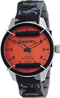 SYG129E Mens Scuba Camo Silicone Strap Watch