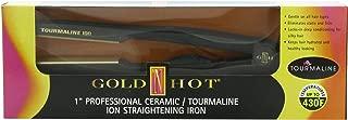 Gold 'N Hot Professional Ceramic Tourmaline Ion Straightening Iron, 1 Inch