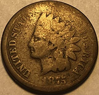 1875 P Indian Head Penny Cent P-AG