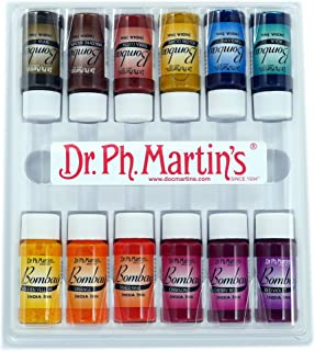 Dr. Ph. Martin's Bombay India Ink Bottles, 0.5 oz, Set of 12 (Set #2)