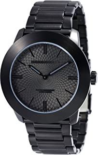 Perry Ellis Mens Watch Slim Line Quartz Luminous Watch Stainless Steel Band Waterproof