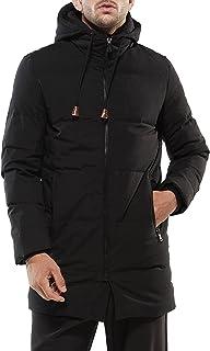 (アイラブコス)iLoveCos ベーシック キルティング ロング ウルトラ ダウンコート ダウンジャケット ベンチコート ダウン90% フード付き 厚手 冬服 冬物 防寒着 メンズ