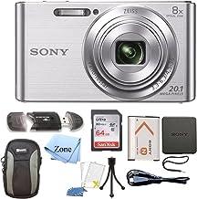 Sony DSC-W830 Cyber-Shot 20.1MP Digital Camera + 64GB...