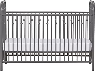 Little Seeds Monarch Hill Ivy Metal Crib, Gray