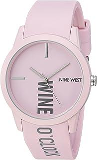 Nine West - Reloj de pulsera para mujer con correa de goma