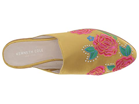 Kenneth Cole New York Roxanne Embroidery Blue Satin