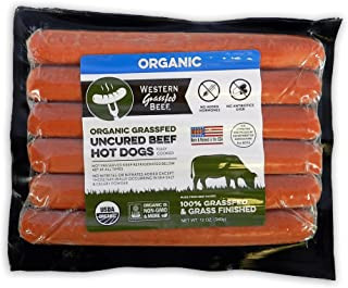 Organic 100% Grass Fed Uncured Beef Hot Dogs (2 Pack)