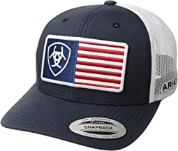 Flag Patch Snapback Cap