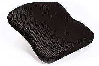 Medi Body Cojín lumbar prémium con correa de fijación – Cojín lumbar – Comodidad perfecta – Cojín lumbar para oficina, coche y oficina en casa – Cojín lumbar