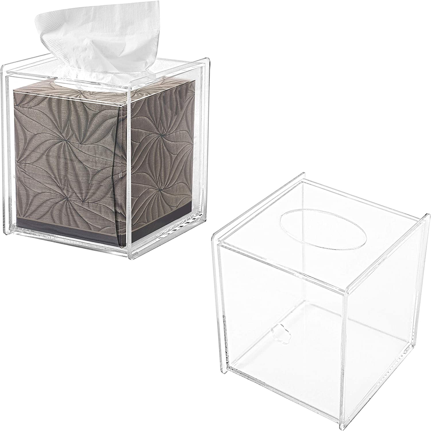 MyGift Clear Acrylic Square Very popular! Tissue Covers At the price of surprise Set Box 2