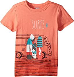 Hatley Kids - Surf's Up Coral Ombre Tee (Toddler/Little Kids/Big Kids)