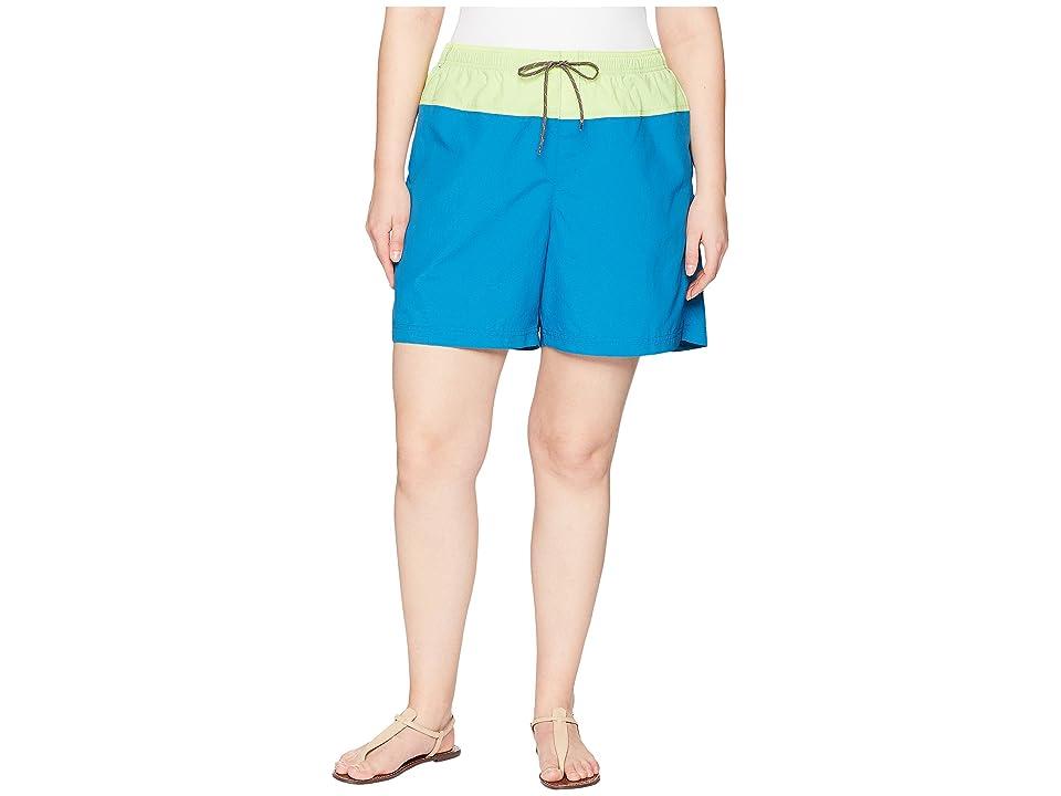 Columbia Plus Size Sandy Rivertm Color Blocked Shorts (Jewel/Neon Light/Mineshaft) Women