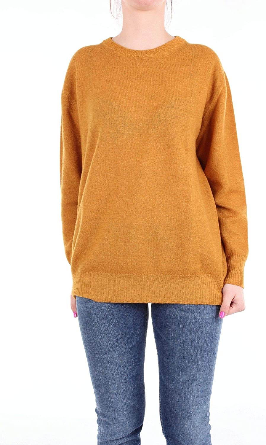 Altea Women's 1861500YELLOW Yellow Wool Sweater