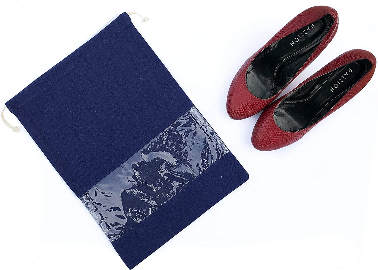 Travel Accessories Shoe Protective Bags Breathable Cotton Set of 2 Dust Covers By Craftbot