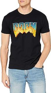 DOOM - T-shirt con scollo tondo, Uomo, Nero (Black), S