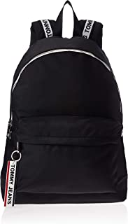 Tommy Jeans Logo Tape Backpack Nylon, Black, AW0AW08086