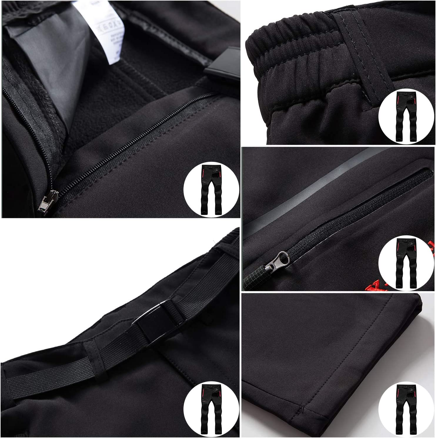 LHHMZ Pantalon de randonn/ée en Molleton pour Hommes Pantalon de randonn/ée en Coquille Souple Pantalon de Camouflage Pantalon