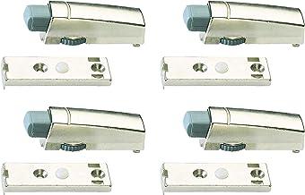 Hettich Aanslag-deurdemper (regelbare dempingswerking, gegoten zink, vernikkeld, inhoud: 4 stk.) 9220192
