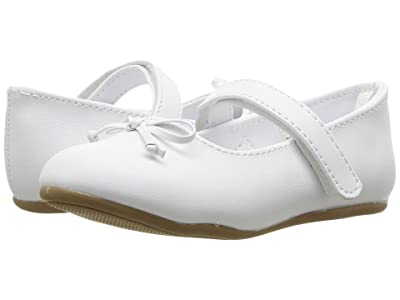 Baby Deer First Steps Ballet with Bow (Infant/Toddler) (White) Girl
