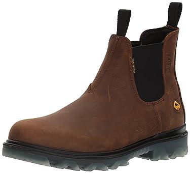 Wolverine Men's I-90 Waterproof Soft-Toe Romeo Slip-On Construction Boot