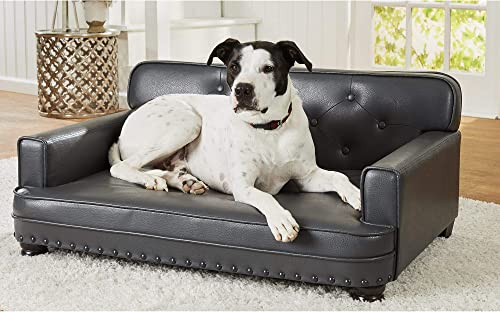 """high quality Enchanted Home Pet Library outlet online sale Pet Grey Sofa for Dog, 40.5"""" L X sale 30"""" W, Large, Gray outlet sale"""