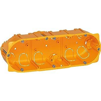 Legrand Batibox LEG90543 3 compartimentos, panel de yeso de 40 mm Caja de empotrar