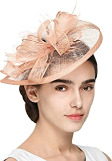Zivyes Fascinators Hat for Women Kentucky Derby Headband Wedding Mesh Feathers Tea Party Hair Clip