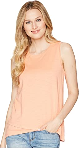 Lilla P Crossed Hem Tank Top