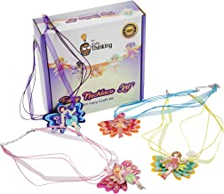DIY Jewelry Making KIT & Friendship Bracelet KIT by CRAFTYTHINKING. This Kids Crafts Makes 6 Custom Fairy Necklaces. Includes a Bead Bracelet, 6 Changeable Charms & Matching Chain. Girl Party Favors.