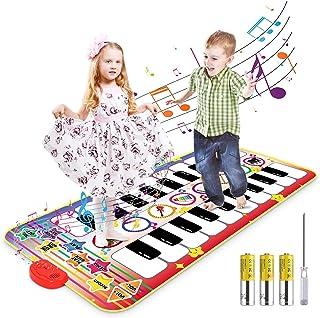 بساط بيانو الكتروني من ماجيك فن، لعبة كيبورد موسيقية مزدوجة للأطفال من الجنسين، يمكنك تعلم الرقص من اتجاهين مع 8 اصوات الا...