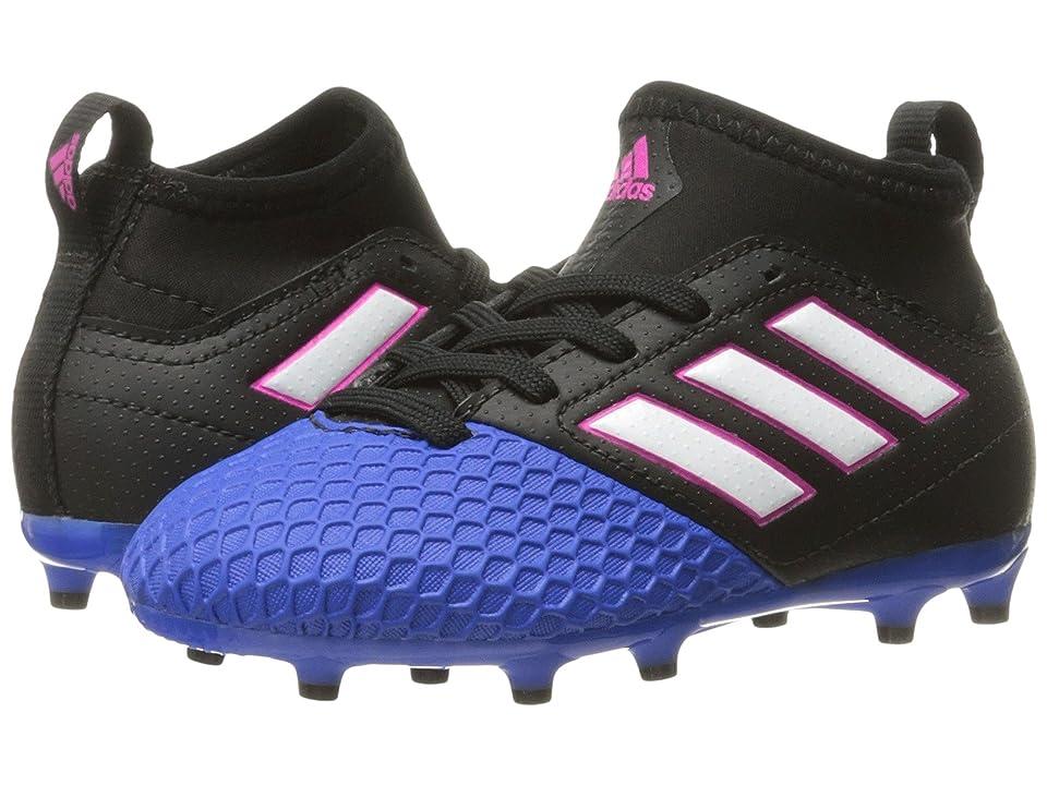 adidas Kids Ace 17.3 Primemesh FG Soccer (Little Kid/Big Kid) (Core Black/Footwear White/Blue) Kids Shoes