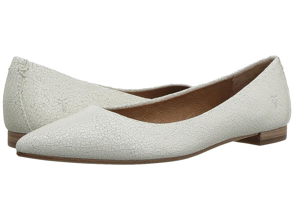 Frye Sienna Ballet (White Crackle) Women