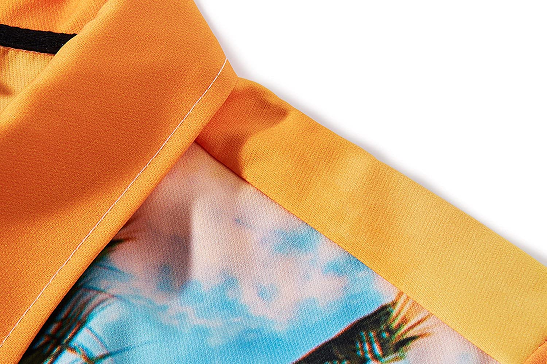 TUONROAD Mens 3D Printed Flower Hawaiian Shirt Casual Tropical Beach Holiday Aloha Short Sleeve Button Down Shirt